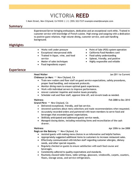 Exle Of A Resume For A Person With No Work Experience by Exle Resumes 2 Resume Cv
