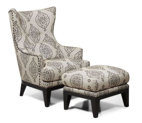 antique wood wing charleston light gray marquis accent chair ottoman from