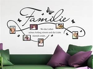Tattoos Für Die Wand : wandtattoo rahmen f r familien fotos mit familienspruch ~ Orissabook.com Haus und Dekorationen