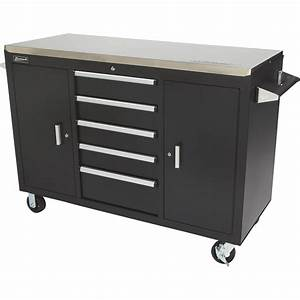 Metal Workbench With Drawers