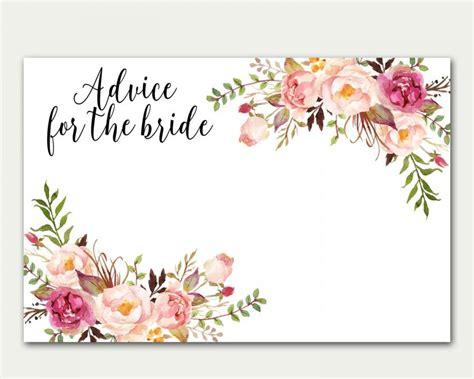 Bridal Shower Advice Cards Template Wedding Shower Advice Cards Template Wedding Dress