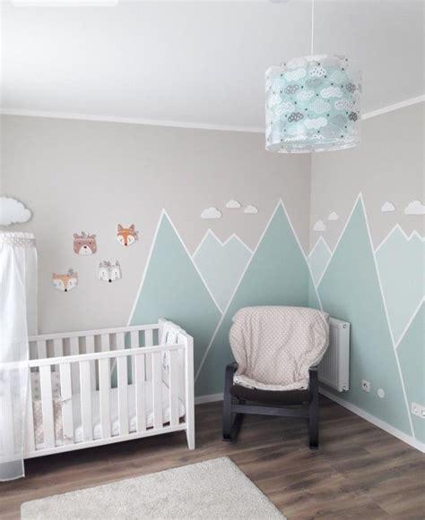 Kinderzimmer Wandgestaltung Berge by Berge Kinderzimmer Ideen Baby Jungenzimmer Kinder