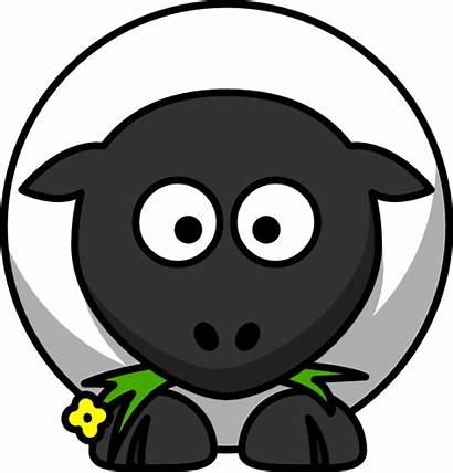 Sheep Cartoon Clker Clip Clipart Vector Svg