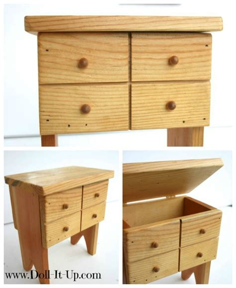 refinish a jewelry box for doll furniture doll it up