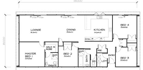 open home plans 4 bedroom transportable homes floor plans