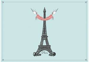 Free Hand Drawn Eiffel Tower Vector Background - Download ...