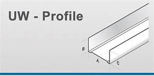 Knauf Cw Profil : uw profile jaha profile hersteller von profilen f r den innenausbau und trockenbau ud ~ Orissabook.com Haus und Dekorationen