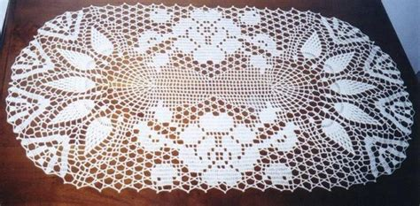 napperon ovale  photo de crochet clos bricolages