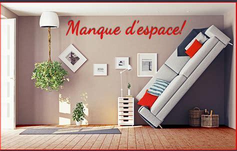 rangement mural chambre lits escamotable et sofa un salon ou un bureau le jour