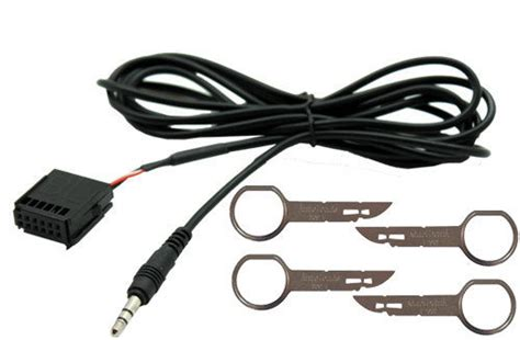ford focus 6000 cd aux in cable for mp3 ipod iphone with radio removal for sale in