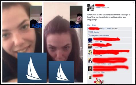 total frat move girl facetimes her ex while blowing a guy ex posts screenshot on facebook