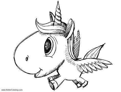 alicorn coloring pages cartoon unicorn pegasus