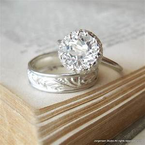 engagement ring large white topaz let them eat cake ring With white topaz wedding rings