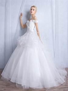 robe de mariee princesse 2016 col en coeur epaule degagee With robe epaule dégagée