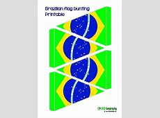 Great, free, printable flag bunting for Brazil flags of