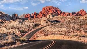 Road, Mountain, Desert, Clouds, Warm, Colors, Landscape