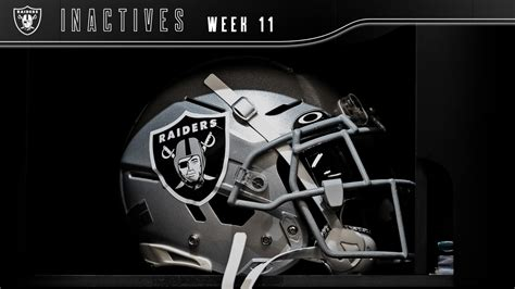 las vegas raiders week  inactives  kansas city chiefs