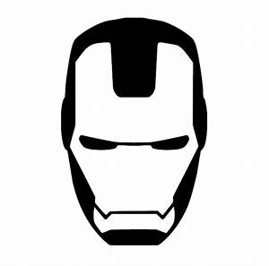 Face clipart iron man - Pencil and in color face clipart ...
