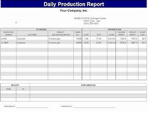 Daily production report template sample bakery for Bakery production schedule template