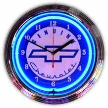 GM Genuine Chevorlet Neon Clock NC 20 06