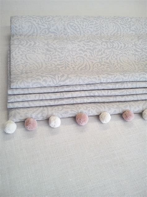 india fog roman blinds handmade   workshop peony sage