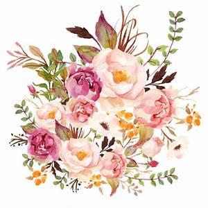 Boho Vintage Floral Pastel - White fabric - shopcabin