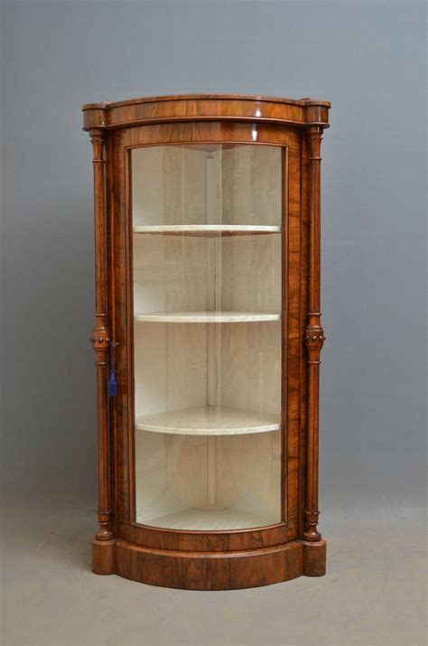 Corner Display Cabinet by Walnut Corner Display Cabinet Antiques Atlas