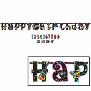 neon doodle jumbo letter banner kit 1ct With letter banner kit