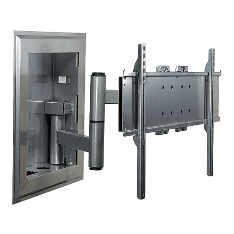 peerless in wall articulating wall mount for 32 60 inch
