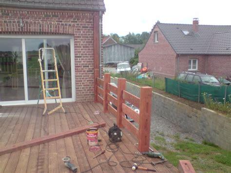 construction d un garde corp et d une pergola sur terrasse