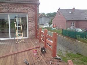 Garde Corps à Faire Soi Même : construction d 39 un garde corp et d 39 une pergola sur terrasse ~ Premium-room.com Idées de Décoration
