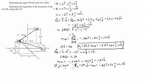 Find The Angle Between The Vectors Find The Angle Between The Two Forces And Find The