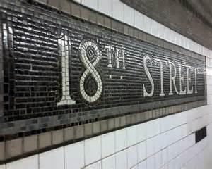 New York City Subway Station Tiles