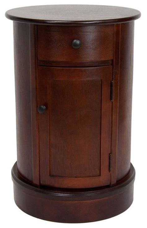 Oval Nightstand by 26 Quot Classic Oval Design Nightstand Transitional