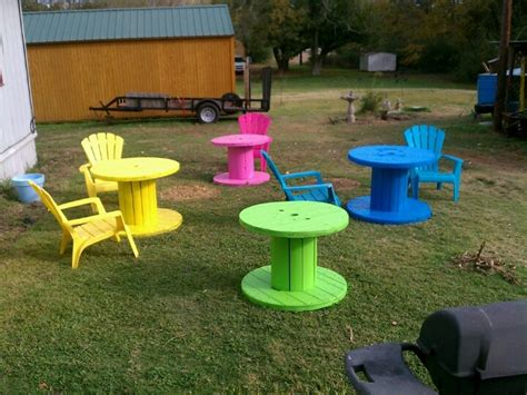 large wooden spools used for tables what to do with a cable reel eyfsmatters