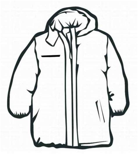 winter coat clipart black and white winter coat coloring page murderthestout
