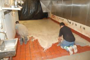 covering floor tiles