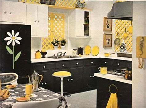 Kitchen Accessories Black And White by My Kitchen I Ve Got The Yellow Walls Black White
