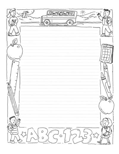 designed writing paper free printables