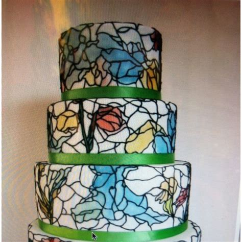 images  stained glass cakes  pinterest