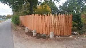 Barrière Bois Castorama : pose d 39 une cl ture en pin douglas loire eco bois ~ Premium-room.com Idées de Décoration