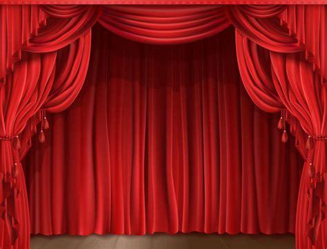 theatre drape stage curtain realistic vector free