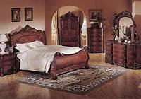 nice traditional bedroom dresser Deep Cherry Finish Classic Traditional Bedroom w/Sleigh Bed