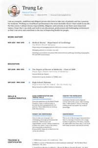 doctor curriculum vitae exle doctor resume sles visualcv resume sles database