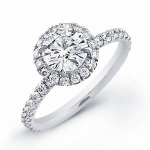 round halo micro pave engagement ring With micro pave wedding ring
