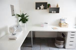 minimalist corner desk setup ikea linnmon desk top with
