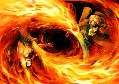 Download 2560x1440 One Piece, Ace, Sanji, Fire, Fight
