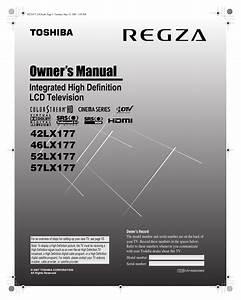 Download Free Pdf For Toshiba Regza 52lx177 Tv Manual