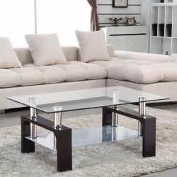 livingroom tables glass coffee table shelf rectangular chrome walnut wood living room furniture ebay
