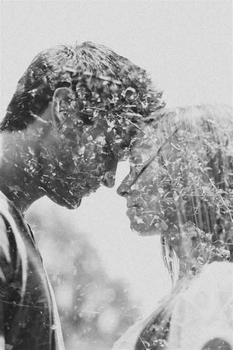 double exposure couples photography images
